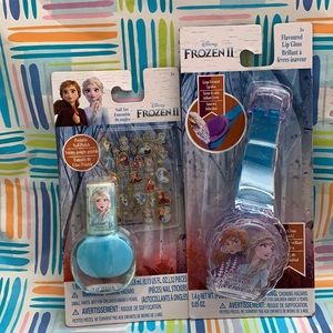 Disney frozen II lip gloss and nail polish